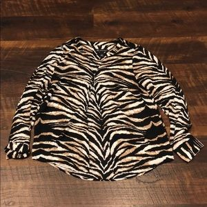 INC international concepts animal print blouse